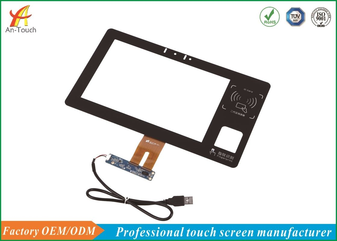 10.1 Capacitive Touch Screen , Industrie Touch Panel Display 0.7mm ITO Glass