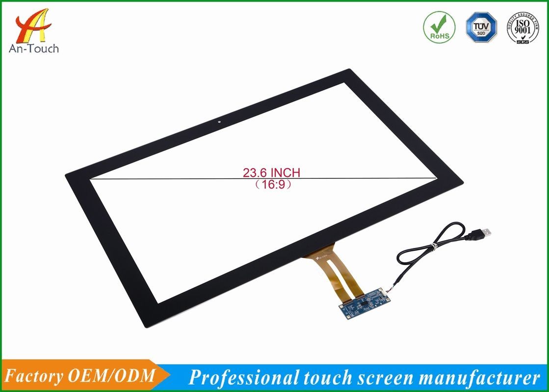 23.6 Inch Glass Usb Multi Touch Screen Panel Long Life For Karaoke Machine