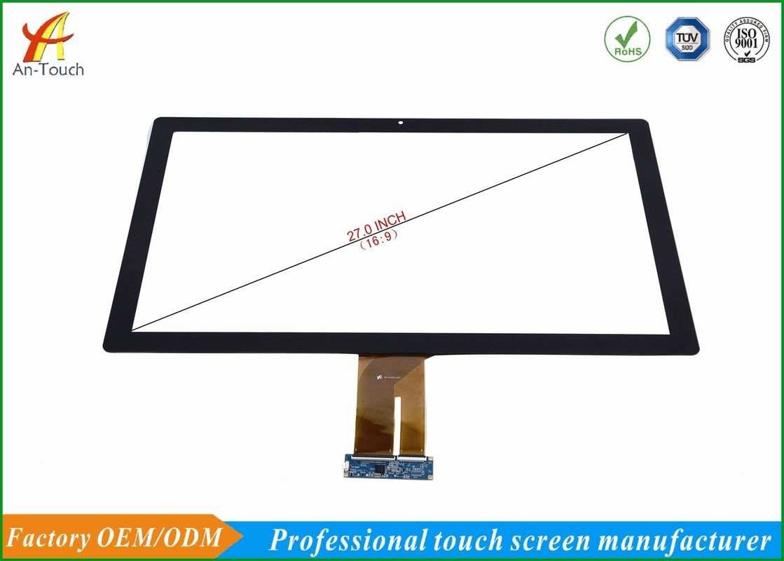 Projective Capacitive Game Touch Screen Overlay Kit 27 Inch , 2.0mm Cover Lens