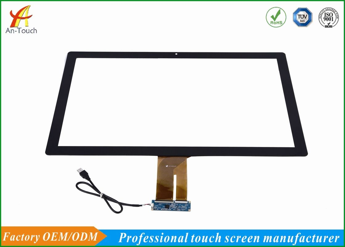 High Sensitive KTV Touch Screen , Capacitive 27 Touch Panel 2.0mm Cover Lens