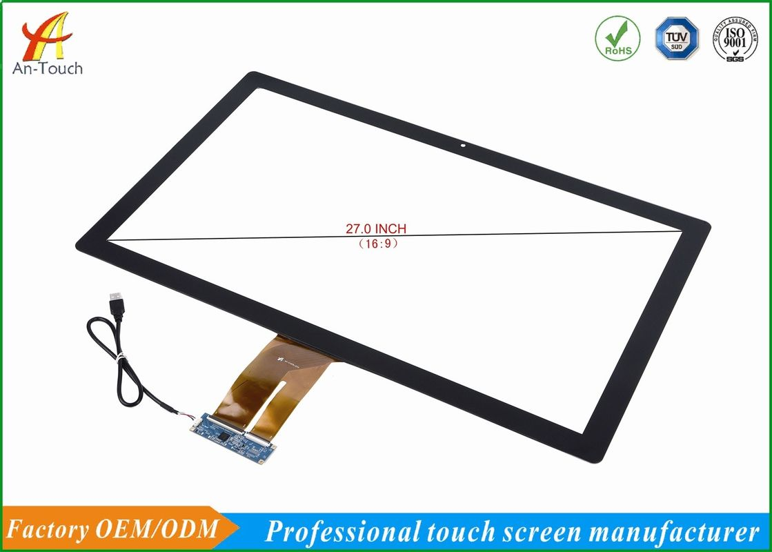 Smooth Touch Advertising Touch Screen , 27 Touch Panel No Break No Drift