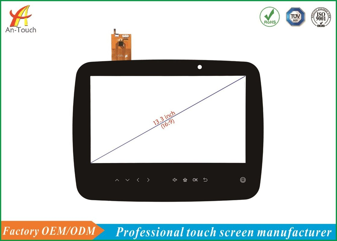Interactive USB Touch Screen 13.3 Inch , Replacement Touch Panel 1.1mm Cover Lens