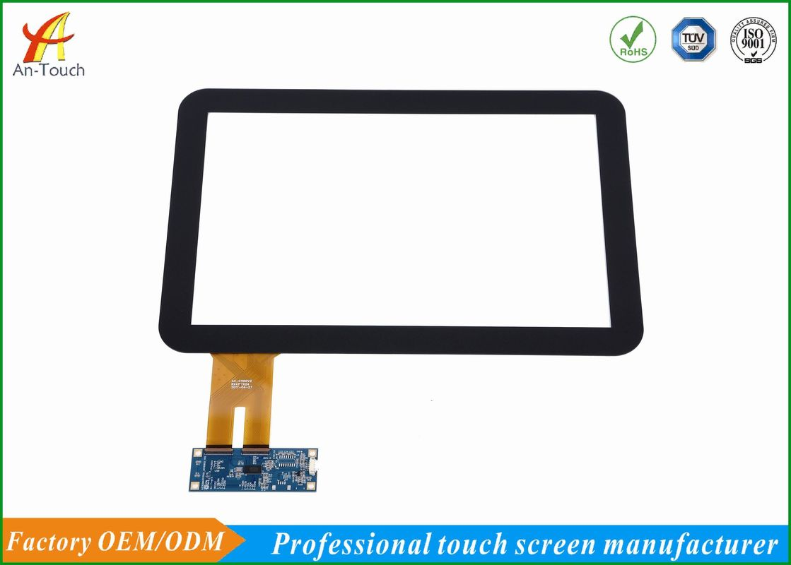 Commercial 12.1 Projected Capacitive Touch Screen Frame Panel Glass Panel For Lcd