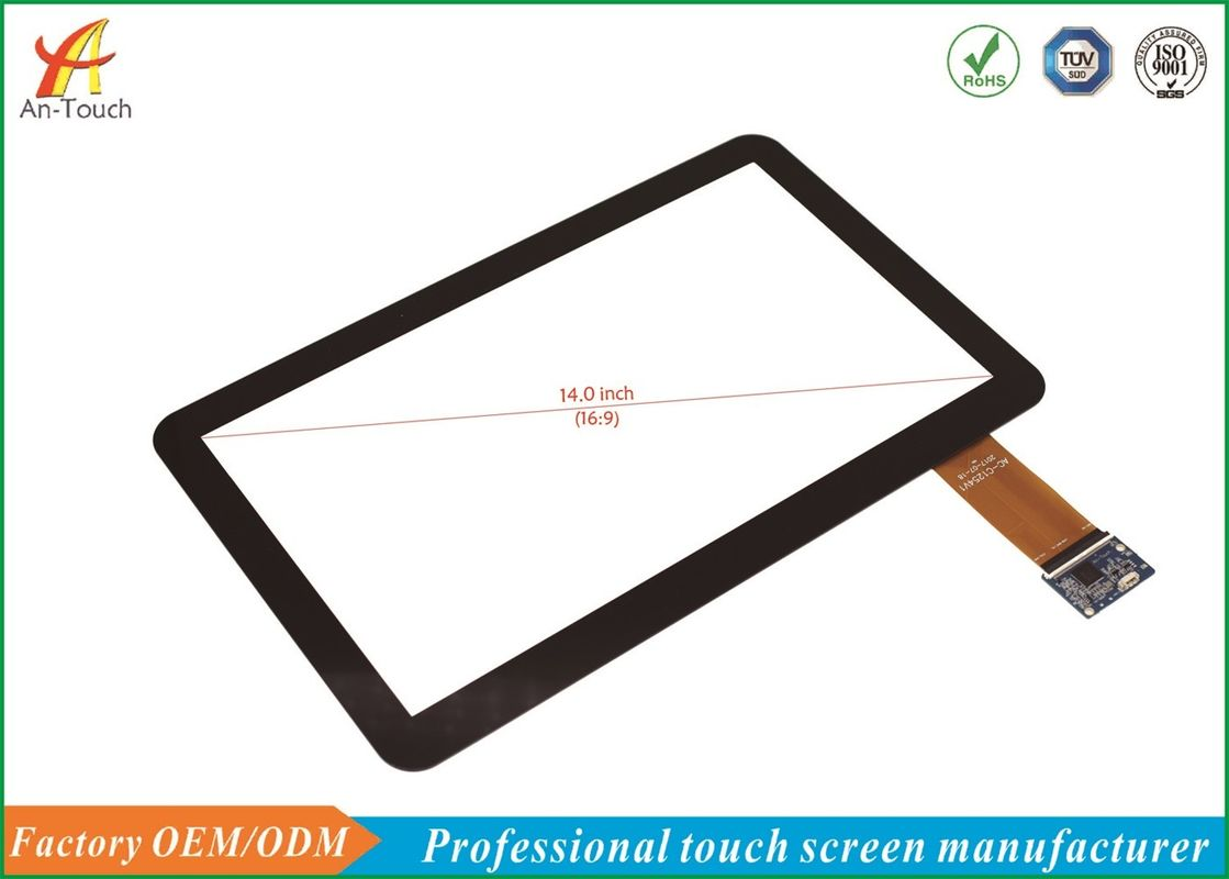 Drive Free Capacitive Multi Touch Panel 14 Inch Anti - Interference Ability
